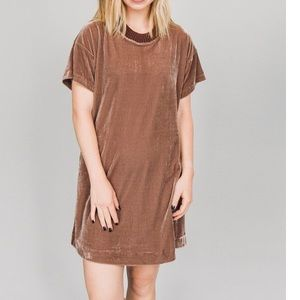 Laju | Velvet Oversized Shirt Dress Size XS